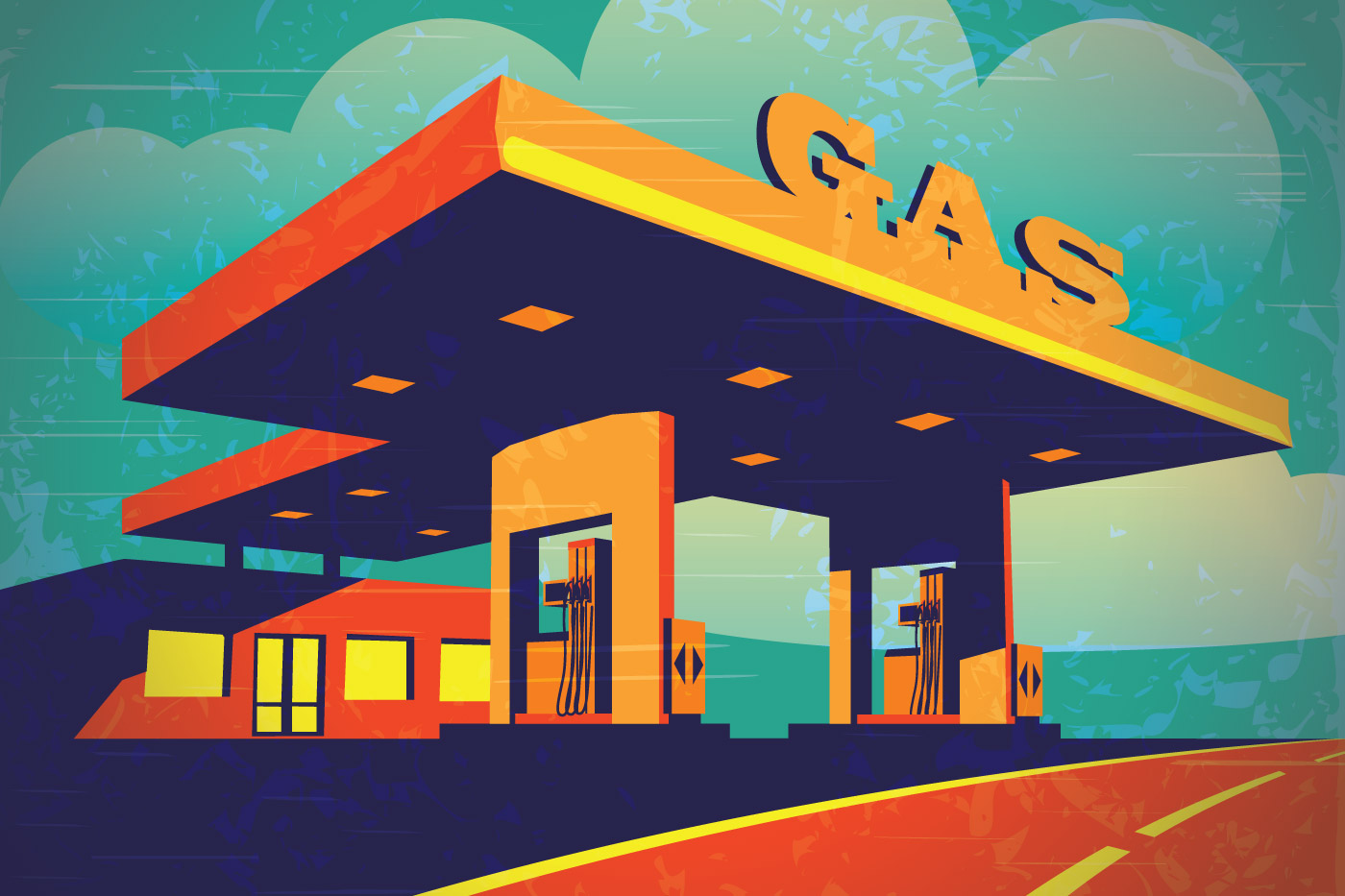 Vector graphics - Filling station